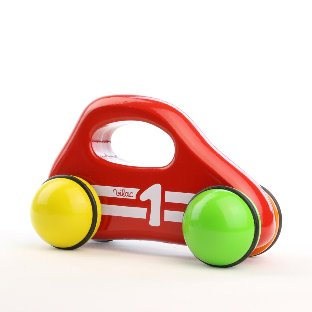 Baby car with handle,  red