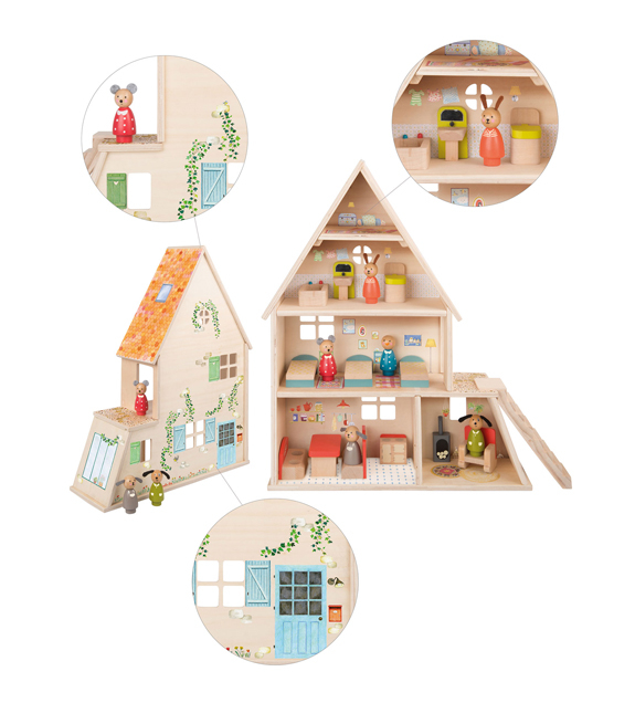 Grande Famille - play - doll house with furniture