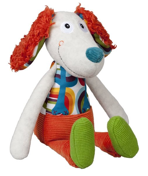 Happy Farm: Antoine the Dog Doll with Bell in the Belly