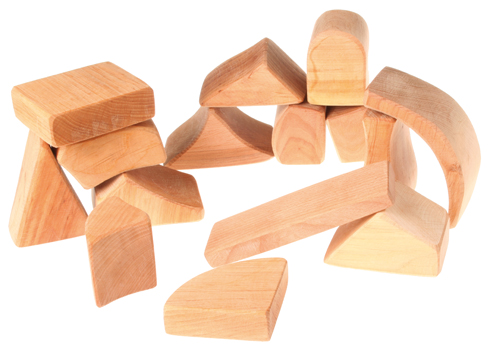 Blocks Large, Natural 15 pcs