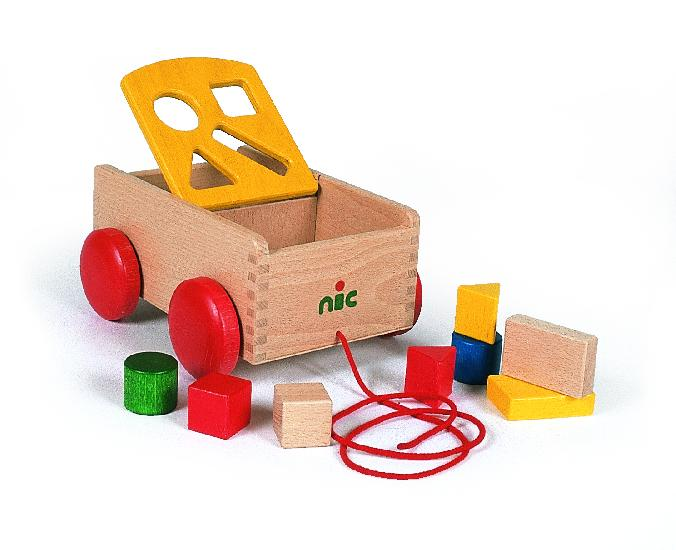 NIC carriage with shapes,  yellow (23cm)