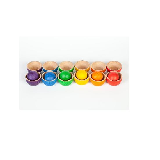 Wood Coloured Bowls and Balls