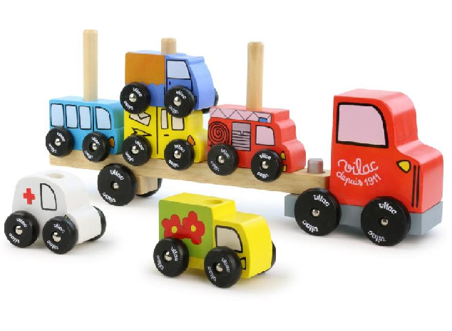 Vehicle - Stacking truck and trailer with vehicles