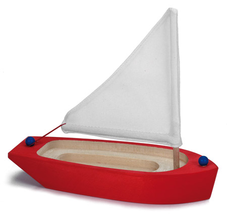 Sailing Boat, red