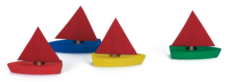 Boat - Sailing, Mini (4pcs)