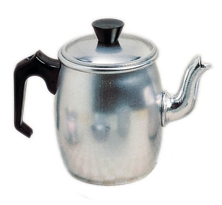 Aluminium coffee pot