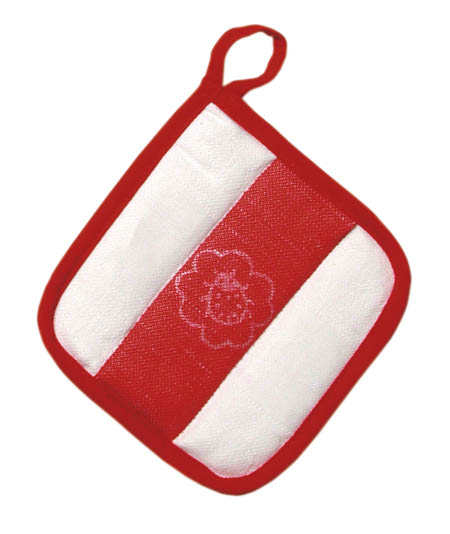 Gluckskafer - Cloth Oven Pad,  red/white (WHILE QTY LAST)