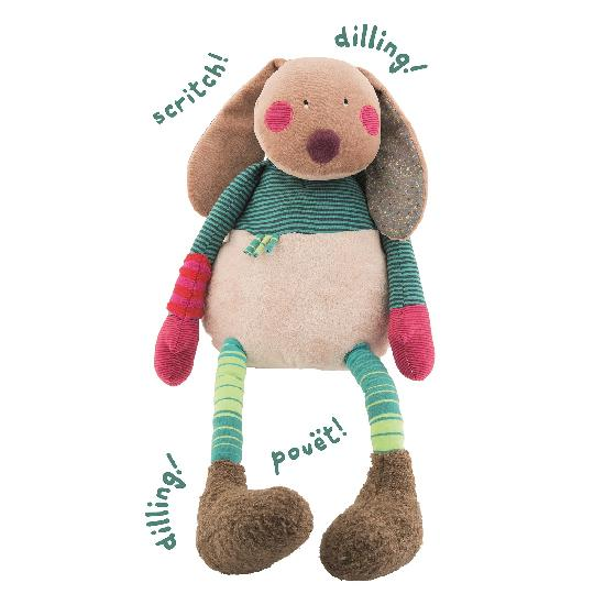 Moulin Roty - Jolis pas Beaux  rabbit activity toy (67 cm) - (WHILE QTY LAST)