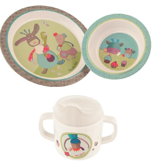 Moulin Roty - Jolis pas beaux Baby dish set WHILE QTY LAST