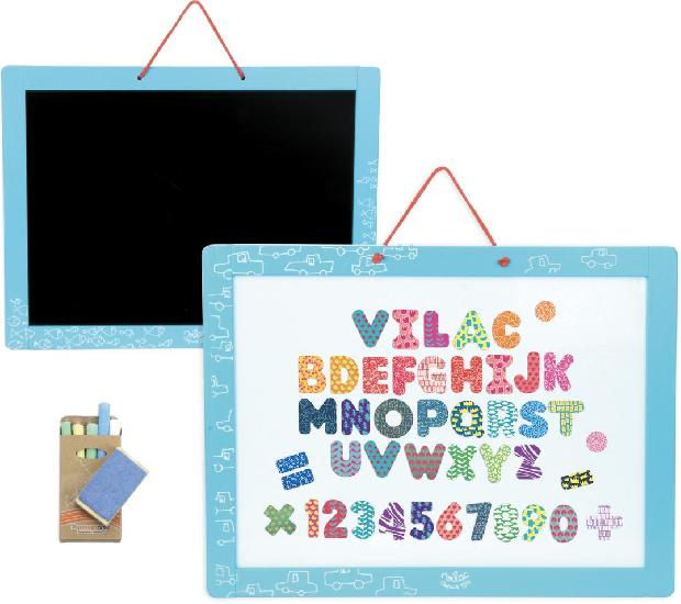 Magnetic Whiteboard and Blackboard with accessories