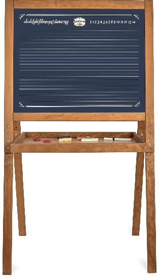 Blackboard, Large Schoolchilds Blackboard (2-sided)