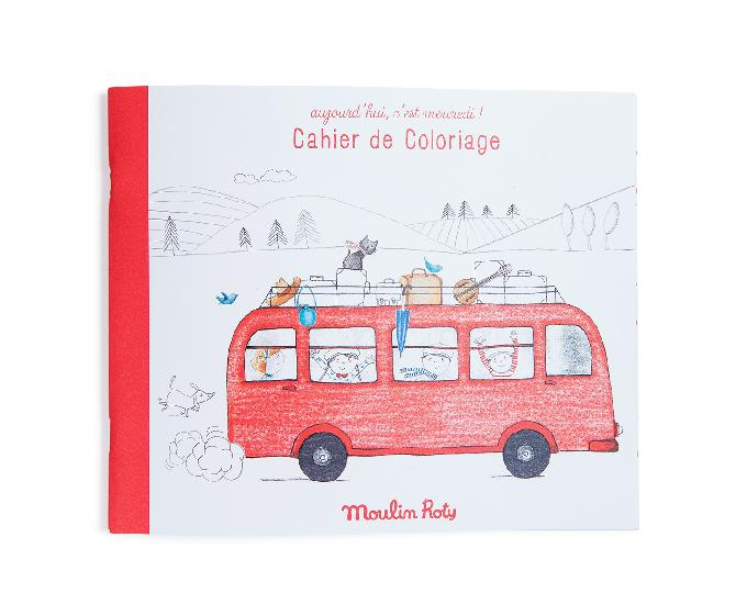 Moulin Roty Aujourd hui cest Mercredi - colouring book  DUE NOV 8