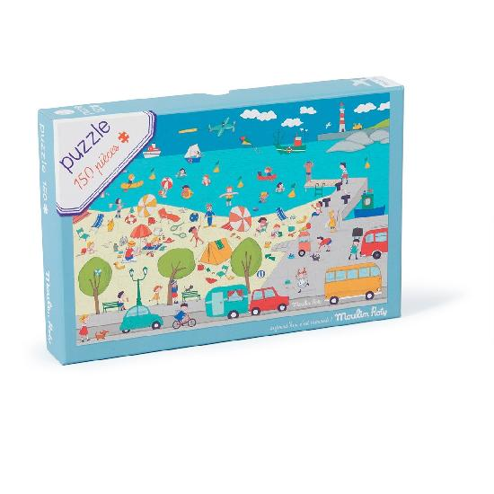 Aujourd hui cest mercredi - At the Seaside Puzzle