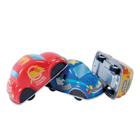 Jouets Metal - Assortment of 12 Friction Cars