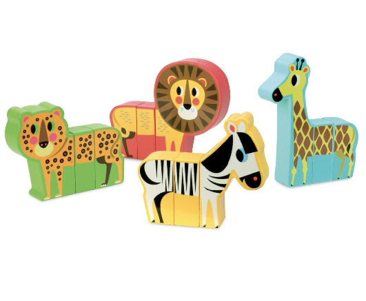 Magnetic savannah animals set