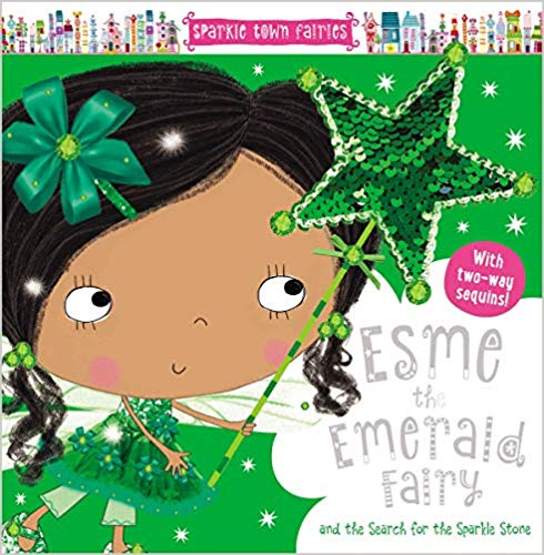 Esme the Emerald Fairy - Two-Way Sequin HC