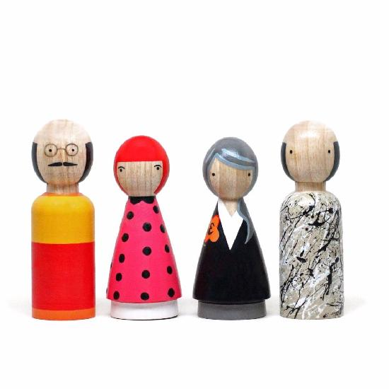Goose Grease - Wood Modern Artists ll (4 dolls) (WHILE QTY LAST)