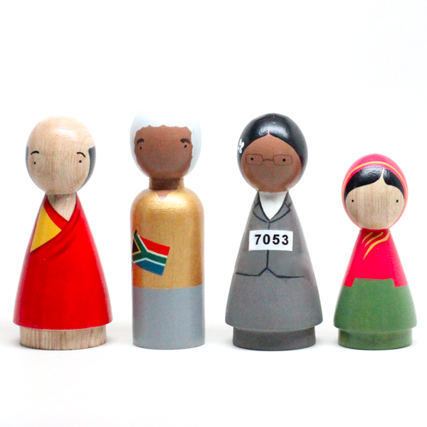 Wood Peace Makers ll (4 dolls)