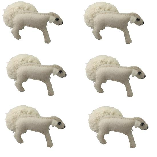 Animals - Sheep With Removeable Coat 6pcs