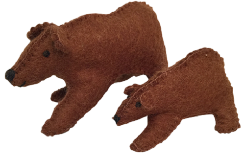 Animals - Bear With Cub 2pcs